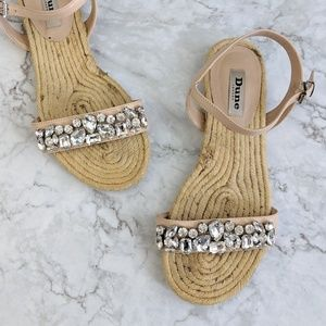 Dune London | Nude Embellished Bling Espadrille 39